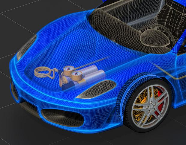 3D Модель-иллюстрация для журнала «Авто курьер»