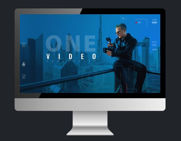 web cайт студии «OneVideo». Дизайн, html, sass, css, php продакшн «Под ключ».