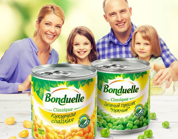 Key Visual — для компании «Bonduelle», «Идеально для салата и гарнира!»
