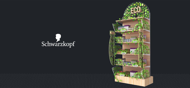 Оформление категории на полке продукта для «Schwarzkopf»