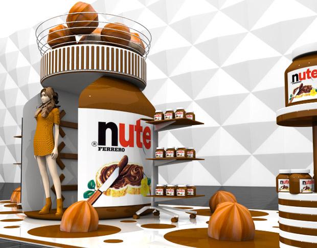 Брендзона для раздачи сэмплов продукции компании «Nutella»